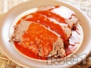 Рецепта Неаполитанско телешко задушено в доматен сос с босилек и риган